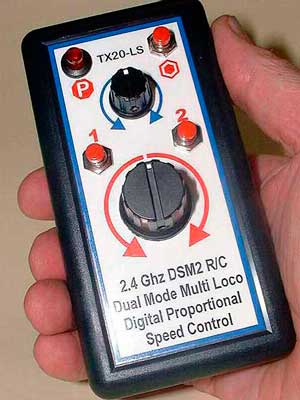 A new hand-held transmitter from Remote Control Systems of Australia, the TX2-LS.