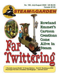 Latest news: Steam in the Garden's current cover